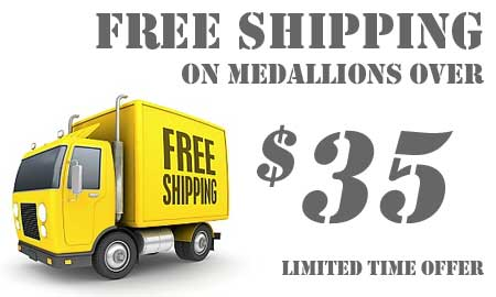 Free Shipping On Medallions