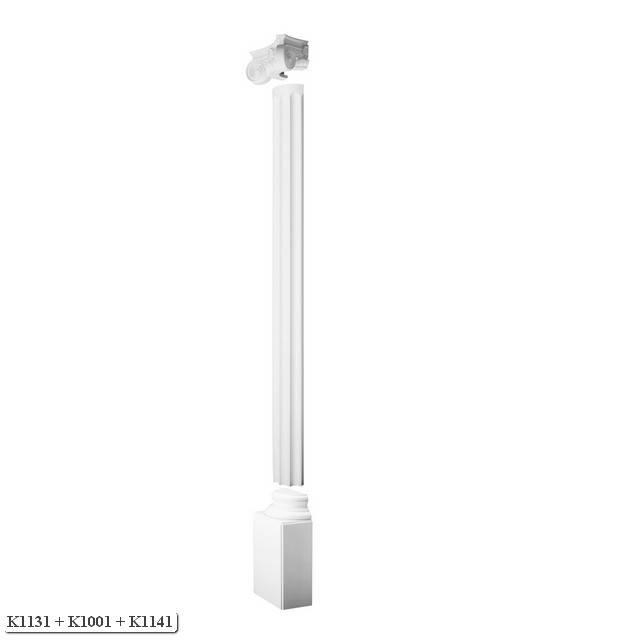 Orac decor half column luxxus round fluted half column for Polyurethane columns