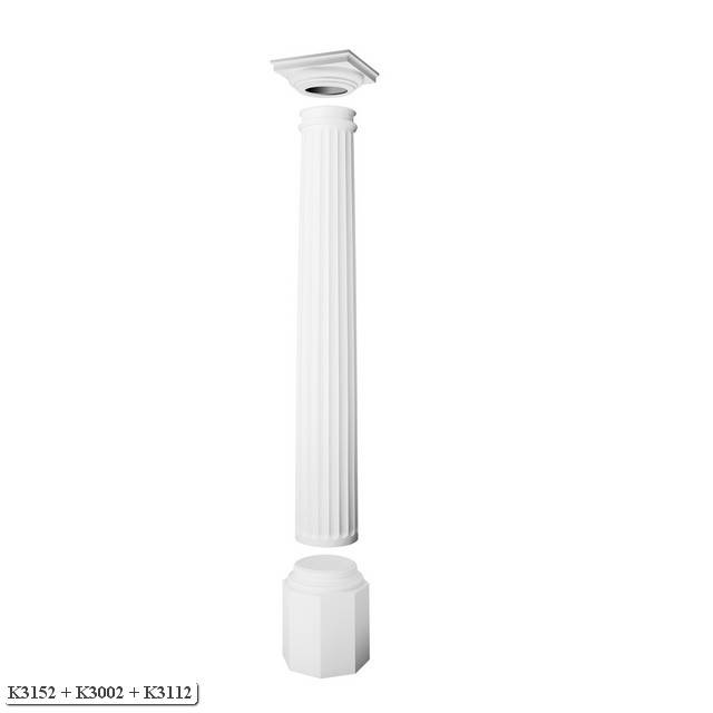 Orac Decor Full Column Luxxus Round Fluted Tapered Full